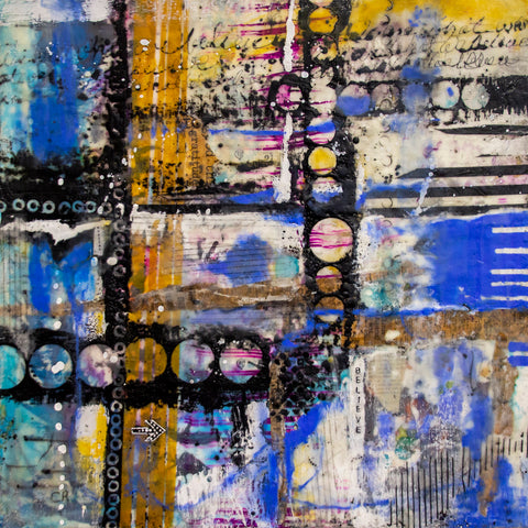 Believe – original encaustic mixed media art by Cindy Rashid.