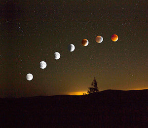 """Blood Moon"" is a photograph by Carl Sams II."