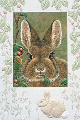 "Bunny Brunch – An embossed birthday card by Pumpernickel Press.  Includes 1 card and 1 envelope. 8-1/4"" x 5-3/8"""