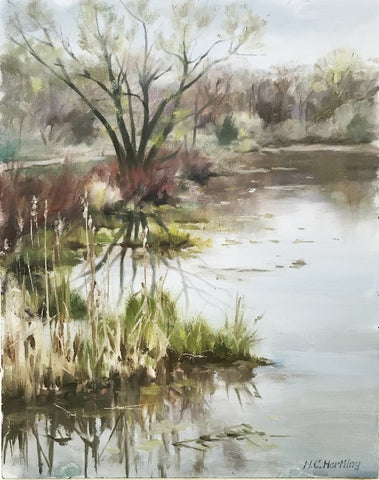 By the Kensington Nature Center – oil