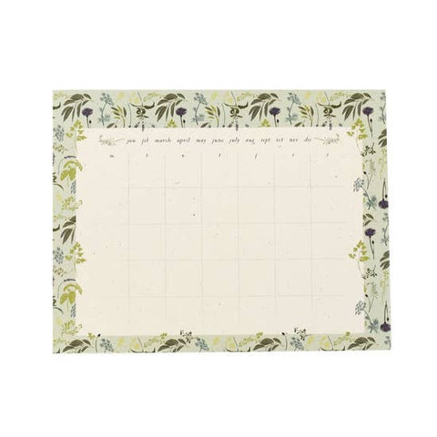 Garden Herb Monthly Note Pad