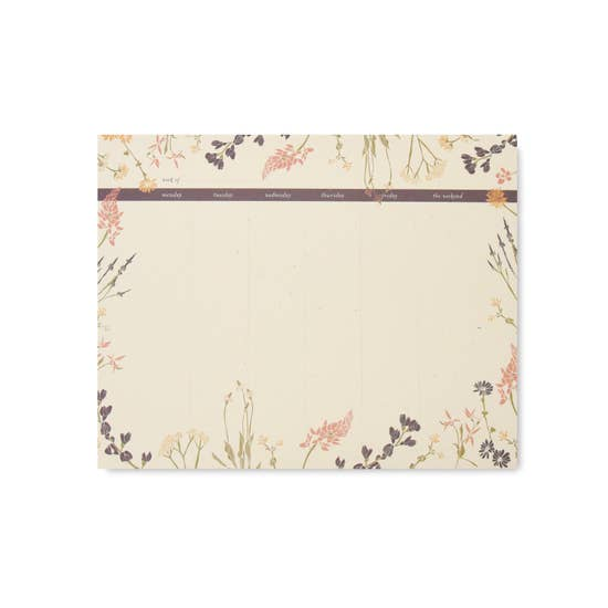 Wildflower Weekly Note Pad