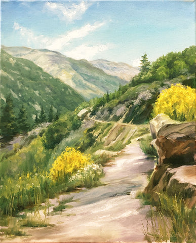 "Plein Air Landscape by Heiner Hertling.  Oil on canvas.  16"" x 20"""