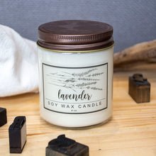 Load image into Gallery viewer, 8oz Soy Wax Candle Lavender