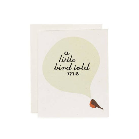 A Little Bird, Robin Card