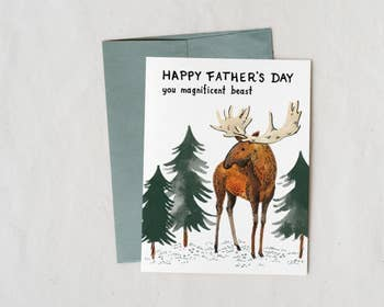 Happy Fathers Day Magnificent Beast Card