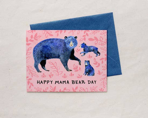 Happy Mama Bear Day Greeting Card
