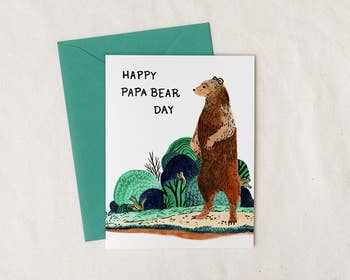 Happy Papa Bear Day Greeting Card