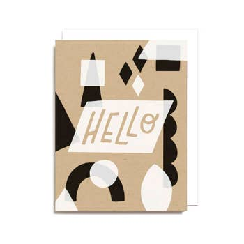 Hello Geometric Card