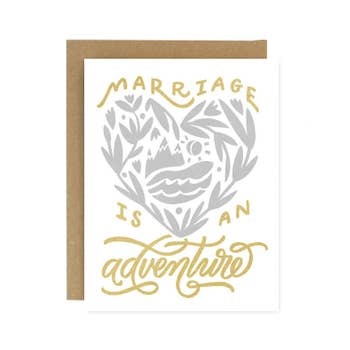 Marriage is an Adventure Wedding Card