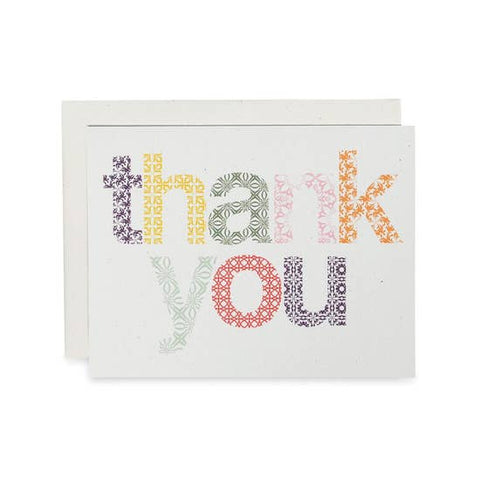 Woodblock Thank You Card
