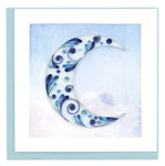 "Crescent Moon. Handcrafted quilled art card that's truly a work of art.  Certified Fair Trade made in Vietnam. 6"" x 6"" Blank inside."