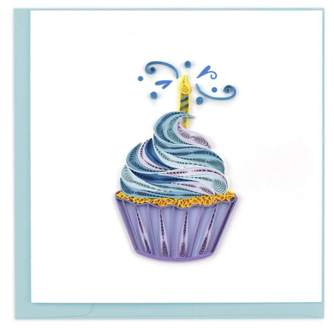 Cupcakes and Candles birthday card. Certified Fair Trade art card handcrafted in Vietnam.
