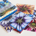 Floral Notecard Packs for any occassion featuring designs from original art by Denise Cassidy Wood of Northville, Michigan. Each box set contains 10 cards and 11 envelopes with 5 different cards (2 of each design).