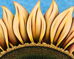 Summer Sunflower painting by Denise Cassidy Wood.