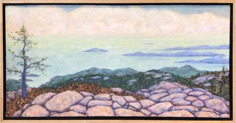 "Distant Islands by Maeve Croghan. Oil on canvas. 36"" x 18"""""