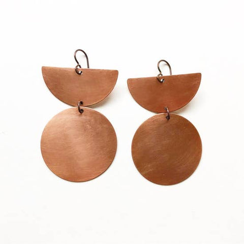 Raw Copper Earrings