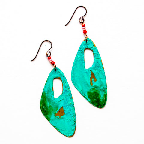 Patina Beaded Earrings