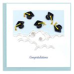 Flying Graduation Caps – card