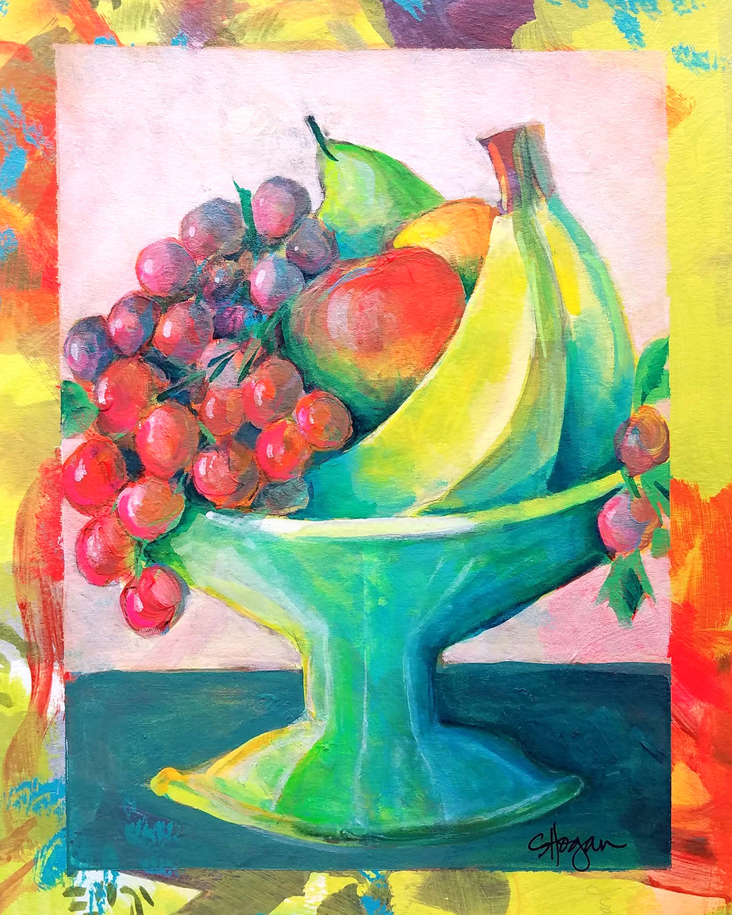 Fresh Fruit - Little Comforts Collection, 2019 by Michigan artist Steph Joy Hogan.  Size: 10
