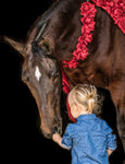 "Gentle (Child with Horse) by Lynne Ellyn. Photography on fine art paper, mounted. 16"" x 20"""