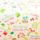 Watercolor gift wrap - Mackinac geraniums
