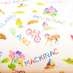Watercolor gift wrap - Mackinac Island horse & bike