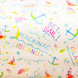 Watercolor gift wrap - Mackinac Island Set Sail