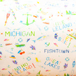 Watercolor gift wrap - Michigan Leland