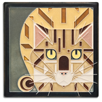 Golden Catnip 6x6 #6687 by Motawi.