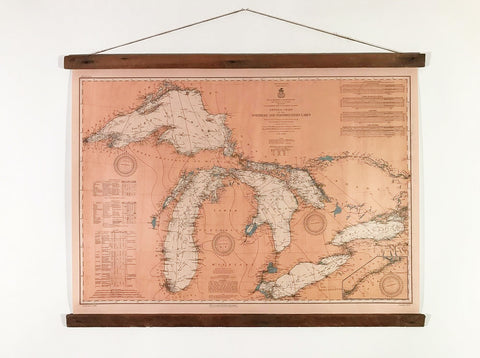 Great Lakes 1909 - map