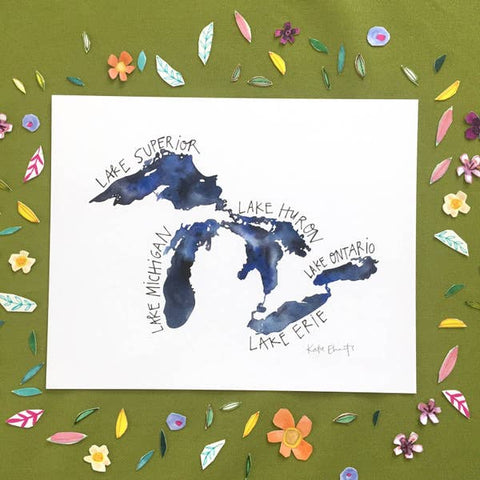 The Great Lakes Print