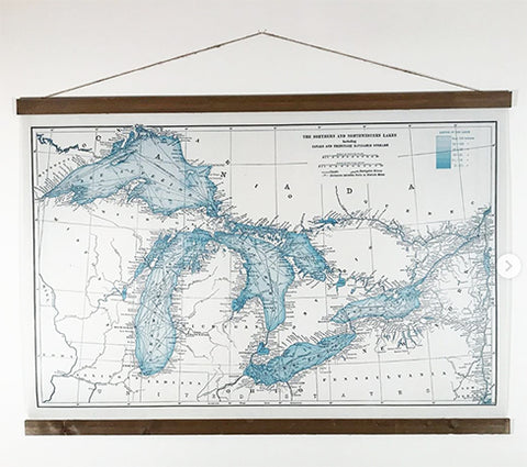 Great Lakes Blue - map