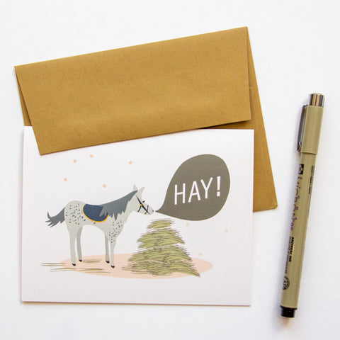 Hay! - Horse Everyday Greeting A2 Card