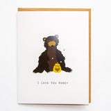 I Love You Honey - Anniversary Love A2 Card
