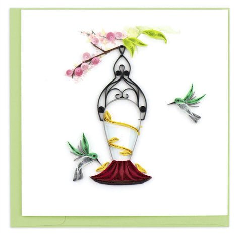 Songbirds greeting card by Quilling Card. Certified Fair Trade art cards handcrafted in Vietnam.