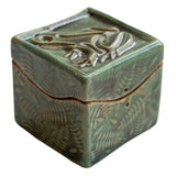 Frog Itty Bitty box by Black Cat Pottery