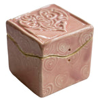 Light Pink Heart Itty Bitty box by Black Cat Pottery