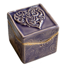 Load image into Gallery viewer, Purple Heart Itty Bitty box by Black Cat Pottery