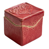 Red Heart Itty Bitty box by Black Cat Pottery