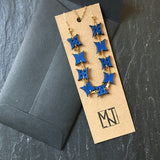 Blue Leather Boho/Hippie Necklace