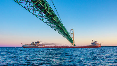 Freighter Under the Mighty Mac – photography