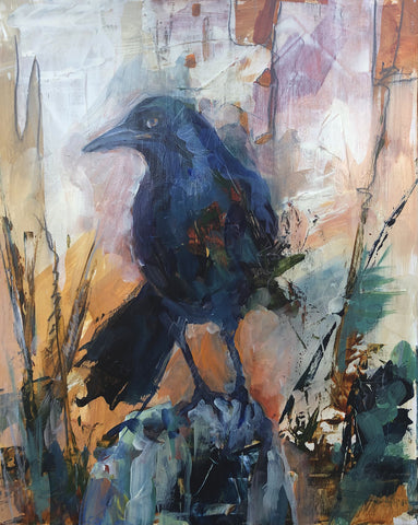 Golden Grackle - Acrylic Painting