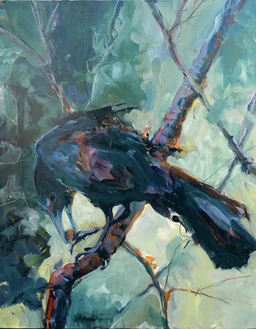 Tough Nut Grackle - Acrylic Painting