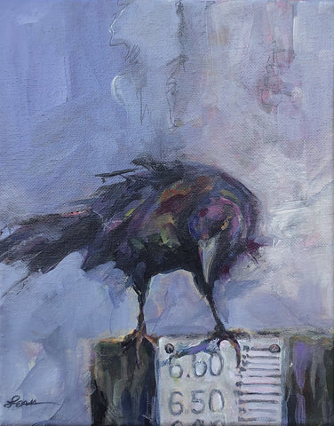 King Grackle - Acrylic Painting