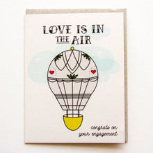 Load image into Gallery viewer, Love in the Air - Engagement Congratulations A2 Card