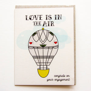 Love in the Air - Engagement Congratulations A2 Card