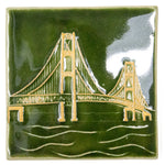 6x6 Mackinac Bridge - Green