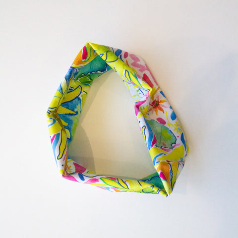 Sunflower Splash watercolor headband by Megan Swoyer.