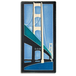 Blue Mighty Mac 4x8 #4844 by Motawi.